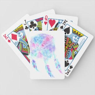 Wasserfarbe Dreamcatcher Bicycle Spielkarten