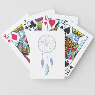Wasserfarbe Dreamcatcher mit 3 Federn Bicycle Spielkarten