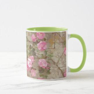 Wasserfarbe-Effekt-rosa kletternde Rosen Tasse