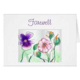 Wasserfarbe Flowers>Farewell Karte