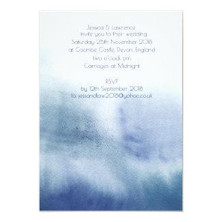Wasserfarbe-Hochzeits-Einladung Karte