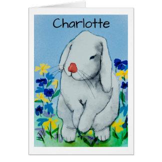 Wasserfarbe-Kaninchen Karte