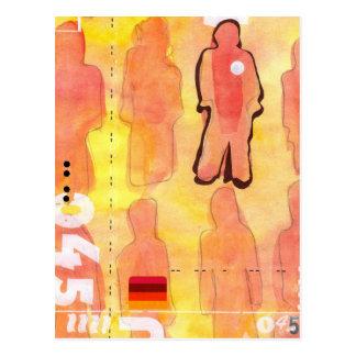 Wasserfarbe-Kunst: Alpha 045 Postkarte
