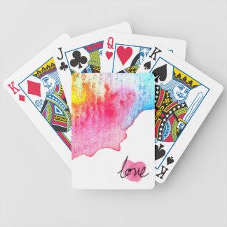 Wasserfarbe-Liebe Bicycle Spielkarten