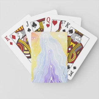 Wasserfarbe-Spielkarten Spielkarten
