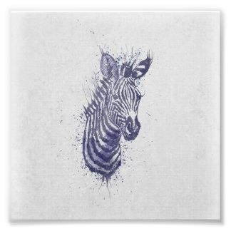 Wasserfarbe-Spritzerfarbe des coolen Zebra Tier Foto Drucke