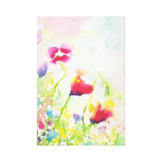 Wasserfarbe-Wildblumen-Leinwand Leinwanddruck