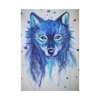 Wasserfarbe-Wolf Leinwanddruck