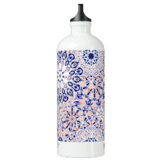 Wasserflasche mit Mandala-Blumenmuster-Druck