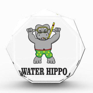 Wasserflusspferdspaß Acryl Auszeichnung