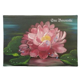 """""""Wasserlilie""""Bild von Eva Borowski Stofftischset"""