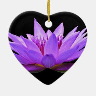 Wasserlilie Keramik Herz-Ornament