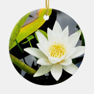 Wasserlilie Keramik Ornament