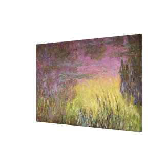 Wasserlilie-Sonnenuntergang Claudes Monet |, Leinwanddruck