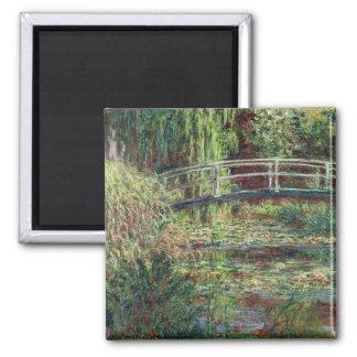 Wasserlilie-Teich Claudes Monet  : Rosa Harmony, Quadratischer Magnet