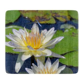 Wasserlilie-und Libellen-Ausschnitt-Brett Schneidebrett