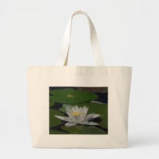 Wasserlilie-und Lilien-Auflagen Jumbo Stoffbeutel