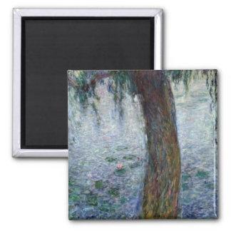 Wasserlilie-weinende Weiden Claudes Monet   nach Quadratischer Magnet