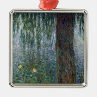 Wasserlilie-weinende Weiden Claudes Monet | Silbernes Ornament