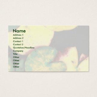 Wasserlilien-Blätter Visitenkarte
