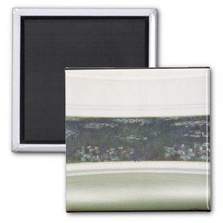 Wasserlilien Claudes Monet  , 1915-26 Quadratischer Magnet