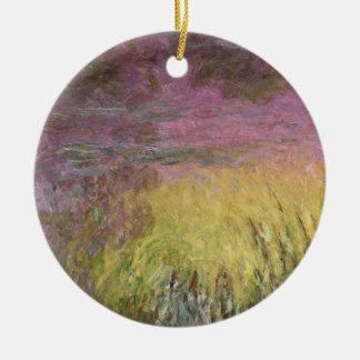 Wasserlilien Claudes Monet | am Sonnenuntergang Keramik Ornament