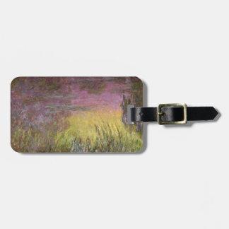 Wasserlilien Claudes Monet | am Sonnenuntergang Kofferanhänger