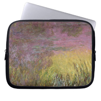 Wasserlilien Claudes Monet | am Sonnenuntergang Laptopschutzhülle