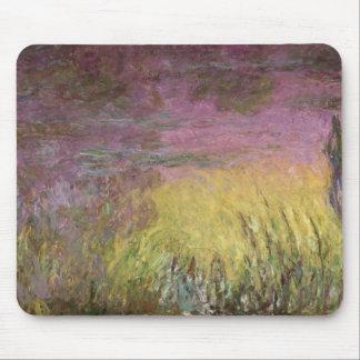 Wasserlilien Claudes Monet | am Sonnenuntergang Mousepad