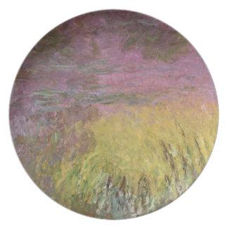 Wasserlilien Claudes Monet | am Sonnenuntergang Teller