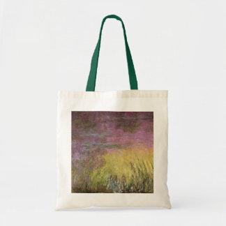Wasserlilien Claudes Monet | am Sonnenuntergang Tragetasche