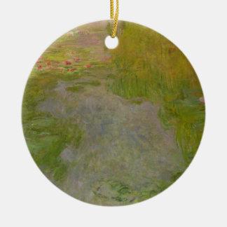 Wasserlilien Claudes Monet |, c.1919 (Öl auf Rundes Keramik Ornament