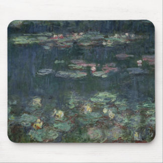 Wasserlilien Claudes Monet |: Grüne Reflexionen Mauspads