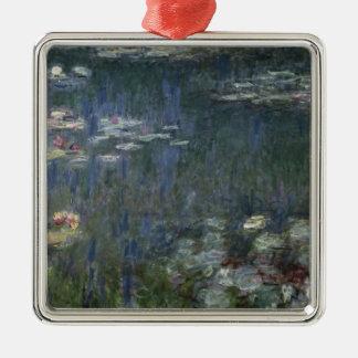 Wasserlilien Claudes Monet |: Grüne Reflexionen Silbernes Ornament