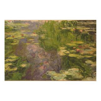 Wasserlilien Claudes Monet | Holzleinwand