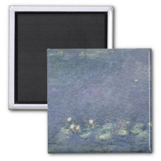 Wasserlilien Claudes Monet  : Morgen, 1914-18 Quadratischer Magnet