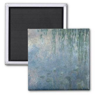 Wasserlilien Claudes Monet  : Morgen-weinende Quadratischer Magnet