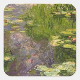 Wasserlilien Claudes Monet | Quadratischer Aufkleber