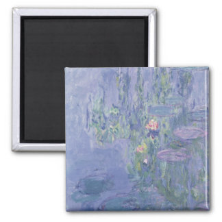 Wasserlilien Claudes Monet   Quadratischer Magnet
