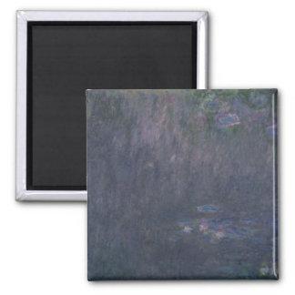 Wasserlilien Claudes Monet  : Reflexionen der Quadratischer Magnet