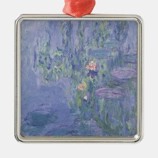 Wasserlilien Claudes Monet | Silbernes Ornament