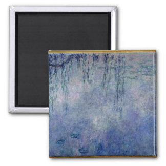 Wasserlilien Claudes Monet  : Weinende Weiden Quadratischer Magnet