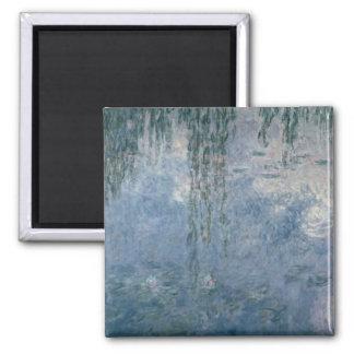 Wasserlilien Claudes Monet  : Weinende Weiden, Quadratischer Magnet