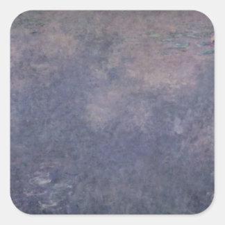 Wasserlilien Claudes Monet |: Zwei weinende Weiden Quadratischer Aufkleber