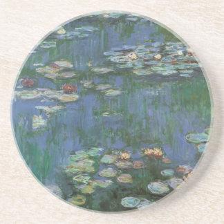 Wasserlilien durch Claude Monet, Vintage Blumen Getränkeuntersetzer