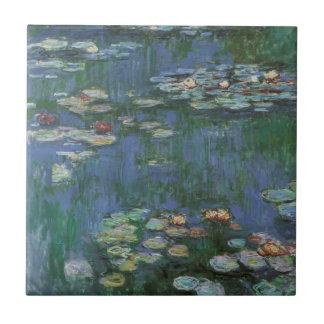 Wasserlilien durch Claude Monet, Vintage Blumen Keramikfliese