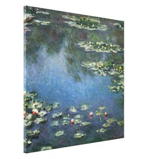 Wasserlilien durch Claude Monet, Vintage Blumen Leinwanddruck