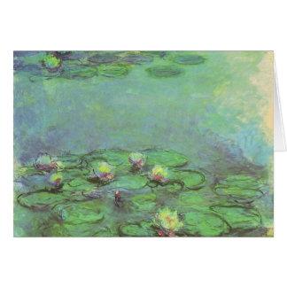Wasserlilien durch Claude Monet, Vintager Karte