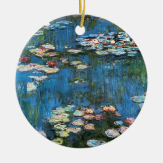Wasserlilien durch Claude Monet, Vintager Keramik Ornament
