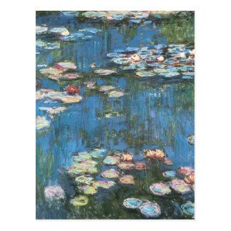Wasserlilien durch Claude Monet, Vintager Postkarten